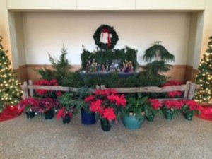 Narthex with Nativity