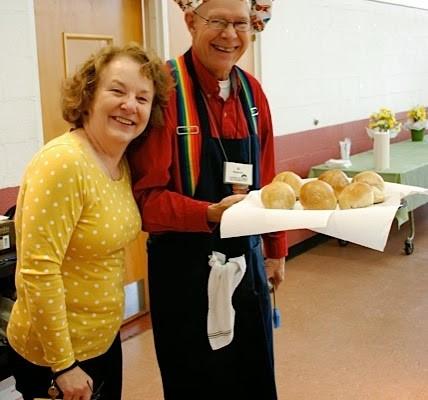 Nancy and Al at Eucharistic breadbaking.